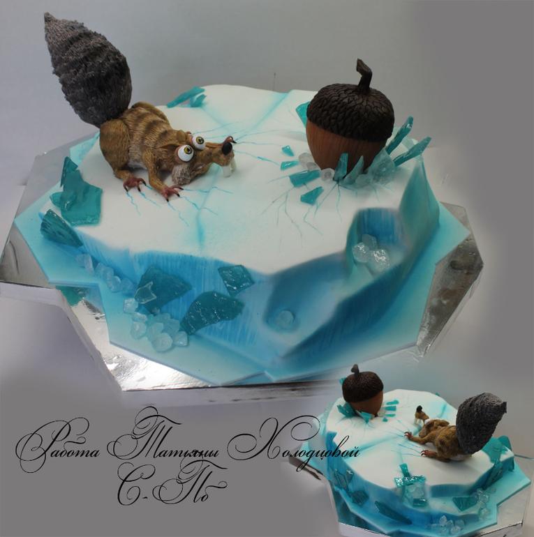 Торт с белкой фото