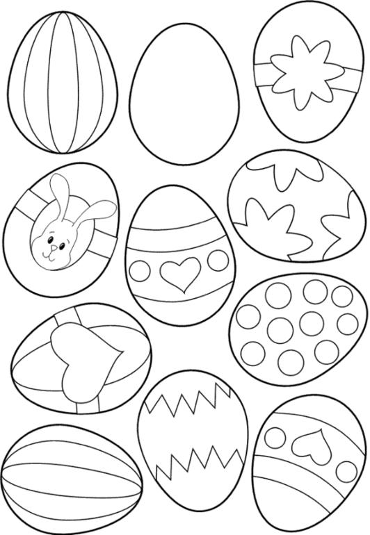 Плакат раскраска пасха яйца