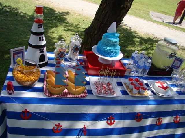 Морская тематика детского дня рождения