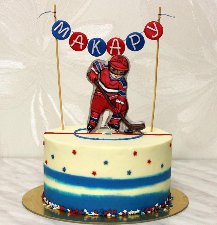 торт для хоккеиста фото загорает шезлонге