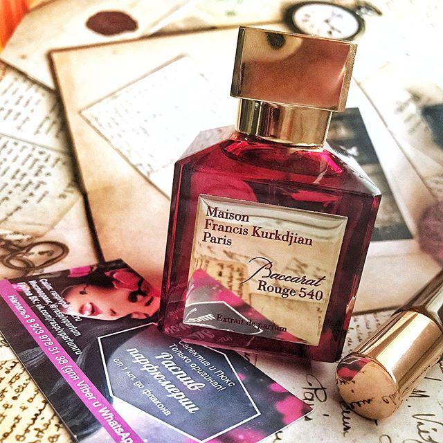 на распиве Baccarat Rouge 540 Extrait De Parfum невероятный