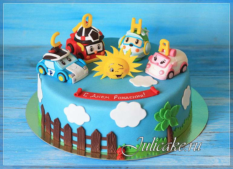 Торт с машинками из мастики фото