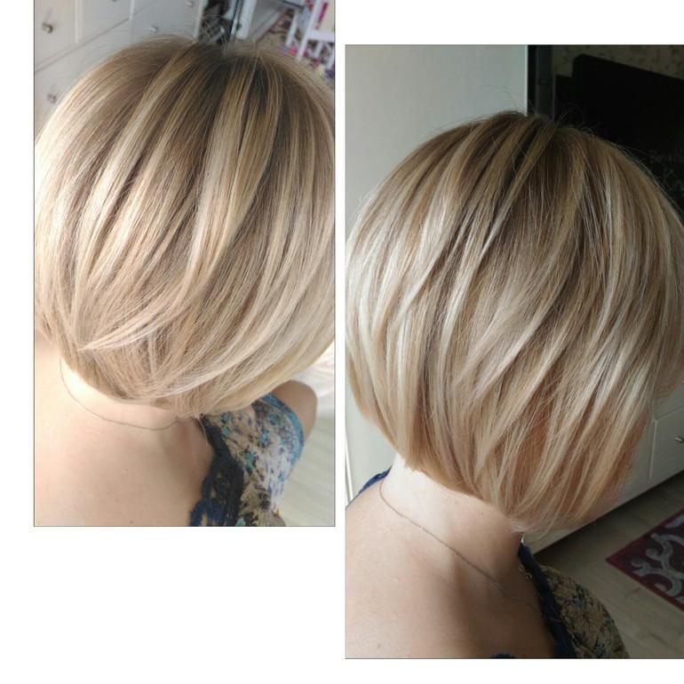 фото шатуш на коротких волосах