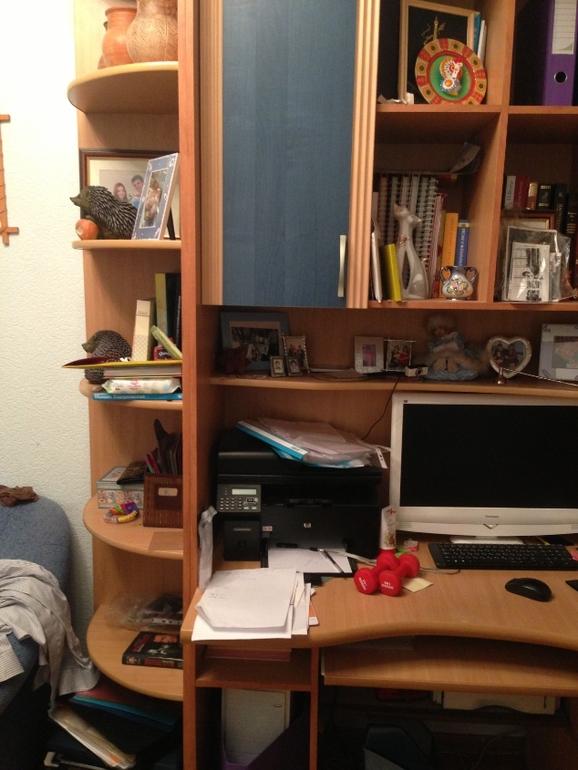 Стенка шкаф с компьютерным столом 8500 москва - запись польз.